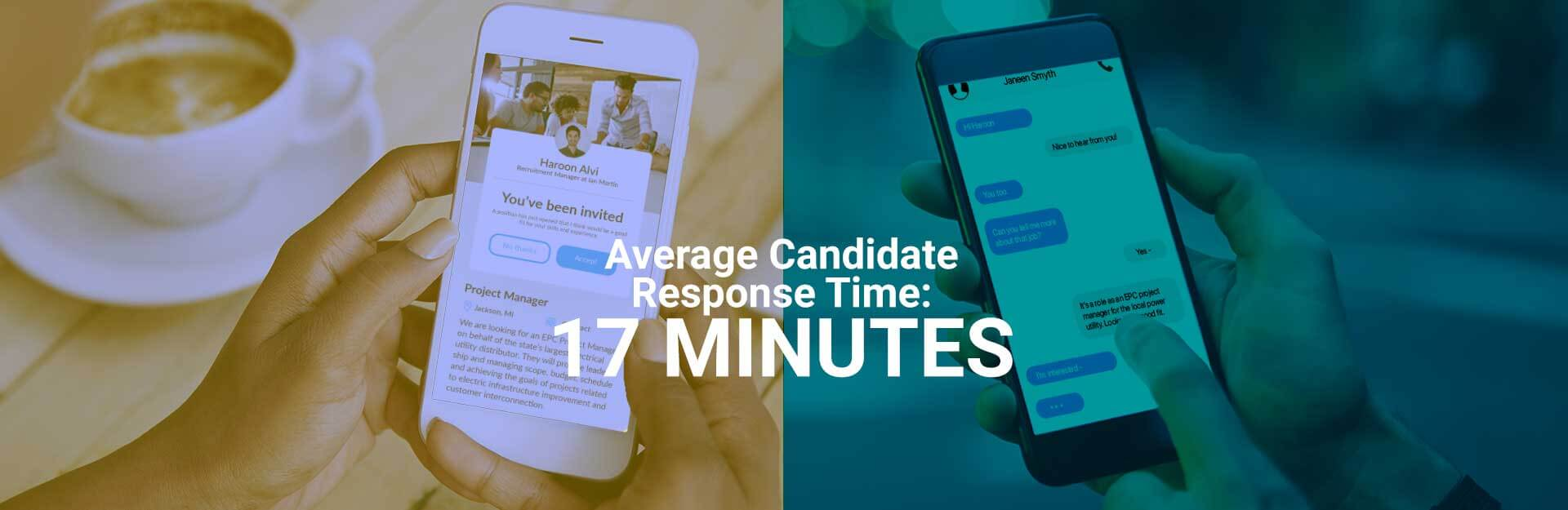 Average response time of 17 minutes