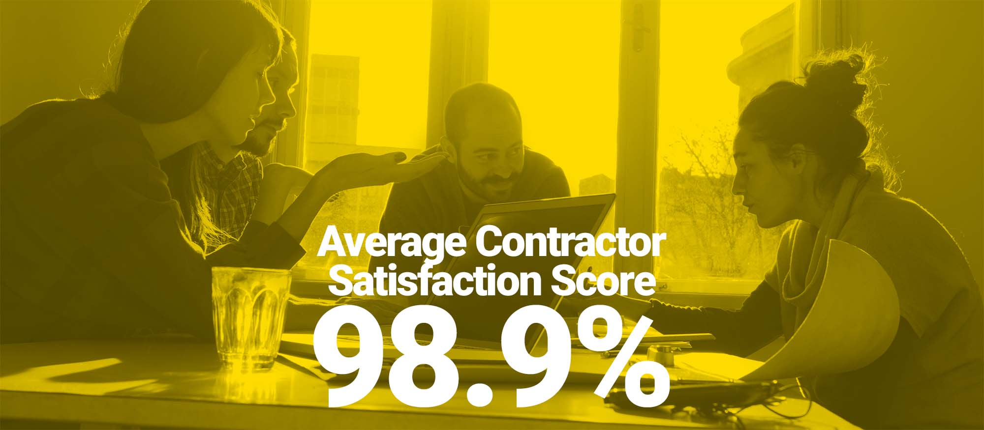 graphic of people with satisfaction rating below